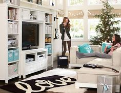 Upgrade your playroom and create a cool teen lounge room with furniture and decor from Pottery Barn Teen. Find inspiration and ideas for your teen's favorite hangout space. Teen Lounge Rooms, Teen Hangout Room, My New Room, My Room, Girl Room, Pottery Barn, Teen Furniture, Teen Decor, Living Comedor