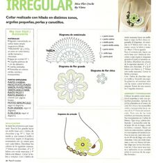Crochet Necklace with diagram