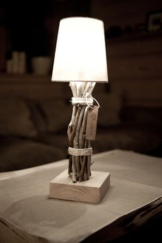 wooden lamp