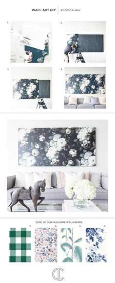 Oversized Wall Art DIY Tutorial and Sources | Coco & Jack