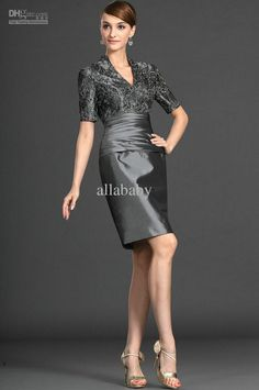 Mother Dress Short Sleeves Silver Of The Bride Dresses Online With 109 69