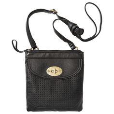 Bueno Perforated Mini Bag - Black