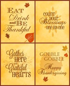 Free Thanksgiving Printables 4 Pack | Serendipity and Spice | Embracing Life with Melissa Llado