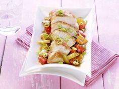 Hähnchenbrust auf Paprika-Gemüse - Rezept