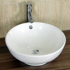 Exceptionnel Basin Sink Countertop Bathroom Ceramic White Bowl Round 420mm X 420mm 0 Tap  Hole