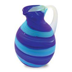 Кувшин стеклянный синий с бирюзовым