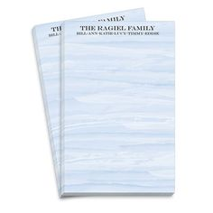 Blue Washed Notepads