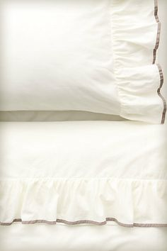 Flutter Sheet Set #anthropologie with Lilac trim.  This is what I cyber bought for you today.