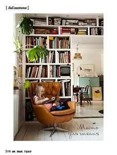 Home Design Ideas - Best Home Design Ideas Wih Exterior And Interior Design Wall Bookshelves, Room Shelves, Bookshelf Ideas, Shelving Ideas, Books On Shelves, Open Shelving, Diy Bookcases, Floor To Ceiling Bookshelves, Home Libraries
