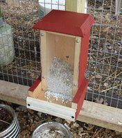 I finally got my roundtuit and cobbled up a dispenser for oyster shell. It's the same basic shape as the feeder I.