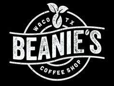 "More coffee shop logos. love the name ""beanies. Coffee Shop Branding, Coffee Shop Logo, Typo Logo, Logo Branding, Typography, Back Bar Design, Coffee Shop Names, Opening A Coffee Shop, Bar Logo"