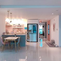 cozy home comfy Kitchen Interior, Home Interior Design, Kitchen Decor, Kitchen Design, Korean Apartment Interior, Dream Home Design, House Design, Home Bedroom, Bedroom Decor