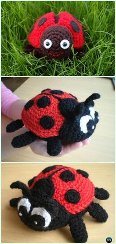Crochet Amigurumi Ladybug Free Pattern - Crochet Amigurumi Little World Animal Toys Free Pattern