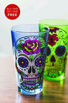 Sugar Skull glass