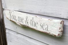 Driftwood Sign Rustic Wall Art Beach House Decor by TheHeartwood, £25.00