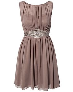 Chiffon Trim Dress - Little Mistress - Beige - Festklänningar - Kläder - NELLY.COM Mode online på nätet