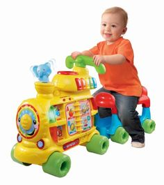 VTech Sit-to-Stand Alphabet Train  http://www.babystoreshop.com/vtech-sit-to-stand-alphabet-train/