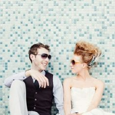 Our favorite hipster wedding shots – those that include some element of funkiness whether in style, accessories, props or posed.