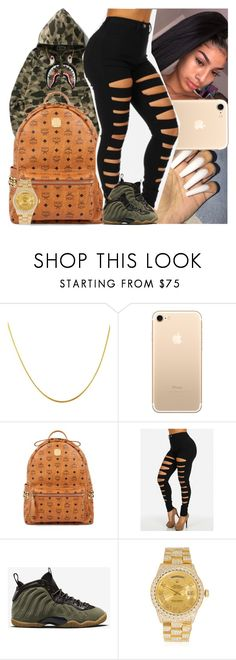 """""""Untitled #1350"""" by msixo ❤ liked on Polyvore featuring A BATHING APE, MCM, NIKE and Rolex"""