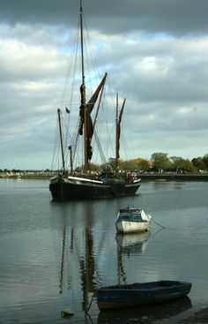 Thames Spritsail Sailing Barge, Maldon, Essex