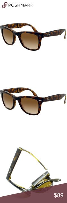 Ray-Ban Folding Wayfarer •Ray-Ban Folding Wayfarer RB4105 Unisex 50 mm Lens  •Folds easy and case is perfect and compact. Authentic and great construction •Protect your eyes with the iconic Ray-Ban unisex sunglasses that offer 100-percent UV protection.  •This authentic Ray-Ban eyewear is sure to become a favorite in your accessory wardrobe, styled in the retro Wayfarer style that made Ray Ban famous. Ray-Ban Accessories Sunglasses