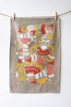 Etsy の Scribble Tea Towel by leahduncan