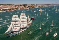 navio escola Sagres- a serviço da marinha portuguesa, já deu 3 voltas ao mundo.