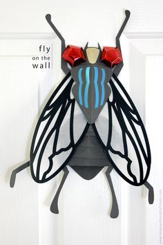 Paper Fly made with Cricut Explore -- Hideous! Dreadful! Stinky! #DesignSpaceStar Round 3