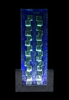 FUSION GLASS CONTEMPORARY TABLE LAMP