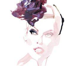 David Downton illustration of Linda Evangelista - Google Search