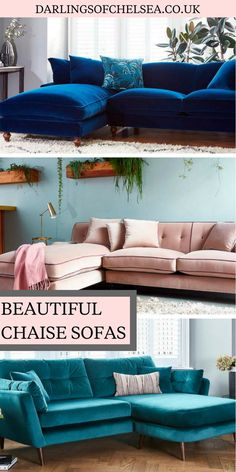 The chaise sofa: an ideal way to add elegance and style to any room, be it lounge, or bedroom. Take a look at what quality sofas Darlings offer here. Living Room Sofa Design, Home Living Room, Living Room Decor, Shabby Chic Furniture, Cool Furniture, Furniture Design, Georgian Interiors, Quality Sofas, Beautiful Sofas