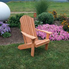 A & L Furniture Western Red Cedar Fanback Adirondack Chair - A & L Furniture Western Red CedarFanback Adirondack Chair.A decorative fan back design resembles a sunrise.This is is a beautifu...