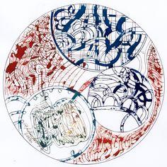 Ignacio Klindworth. El universo de las #esferas. Obra sobre papel y técnica mixta 30x30. Madrid 2006. www.ignacioklindworth.es