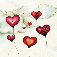 Hearts and clouds