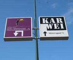 Ideale #bewegwijzering in de Gemeente #Amersfoort. #Hotel van der Valk en #Karwei bouwmarkt maken er al gebruik van.