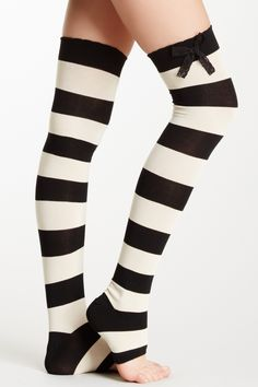 Betsey Johnson Banded Stirrup Over-the-Knee Sock by Betsey Johnson on @HauteLook