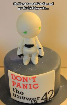 Hitchhiker's Guide to the Galaxy cake