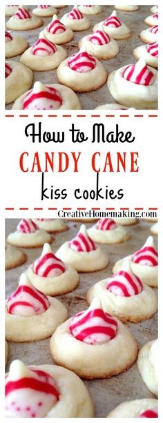 These peppermint candy kiss cookies are a fun holiday variation of Hershey's chocolate kiss cookies. Great for Christmas cookie exchanges!