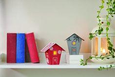 Halloween and Christmas house tealight holders