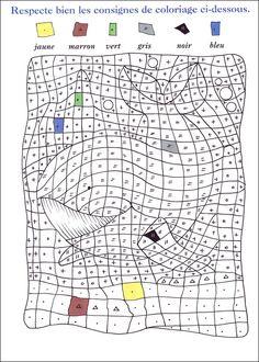Coloriage magique lettres tortues coloriage magique - Jeux de coloriag ...