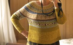 Ravelry: brendadada& Lovage From The Top Sweater Knitting Patterns, Knitting Designs, Knitting Projects, Ravelry, Norwegian Style, Sampler Quilts, Fair Isle Knitting, Poncho Sweater, Hand Dyed Yarn