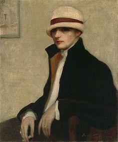 Australian Painter Agnes Noyes Goodsir (1864-1939), The Parisienne, c.1924
