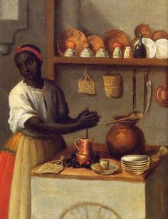 The Perpetual Cocoa, Detail of: José de Páez, Spanish and black, mulato c. Particular collection. Taken from the book Katzew, Ilona Painting of Castes. Pintura Colonial, Colonial Art, History Of Chocolate, Ancient Words, Black Image, Original Image, African Art, Black Art, Black History