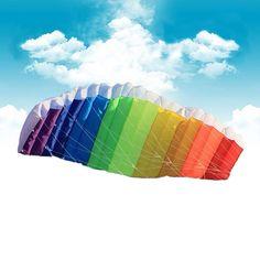 New High Quality 30m Flying Line Parafoil Kite With Control Bar Line Power Braid Sailing Kitesurf Rainbow Sports Beach Hot Sale