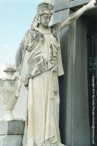 New Orleans' Metairie Cemetery opened in 1872 on the grounds of the old Metairie Race Course.