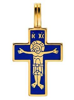 "721 Крест ""Лоза"", серебро 925 пробы, позолота 999 пробы, эмаль Byzantine Jewelry, Holy Cross, Catholic Art, Cross Jewelry, Crucifix, Alice In Wonderland, Faith, Antiques, Ikon"
