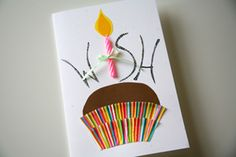 birthdays card with candle