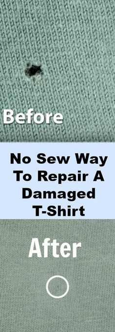 Say goodbye to those annoying tiny t-shirt holes with this quick and easy repair! You don't even need to use a needle and thread.