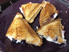 Fit from Conception: Blueberry Breakfast Grilled Cheese