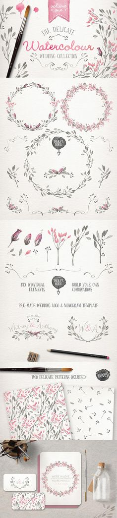 Watercolor Wedding Collection for Access All Areas Members